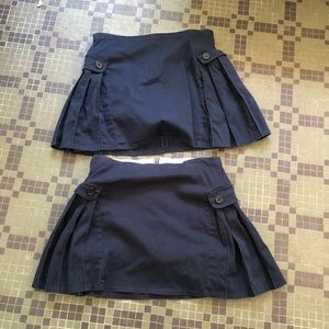 Lands' End Navy School Uniform Skirts Size 14